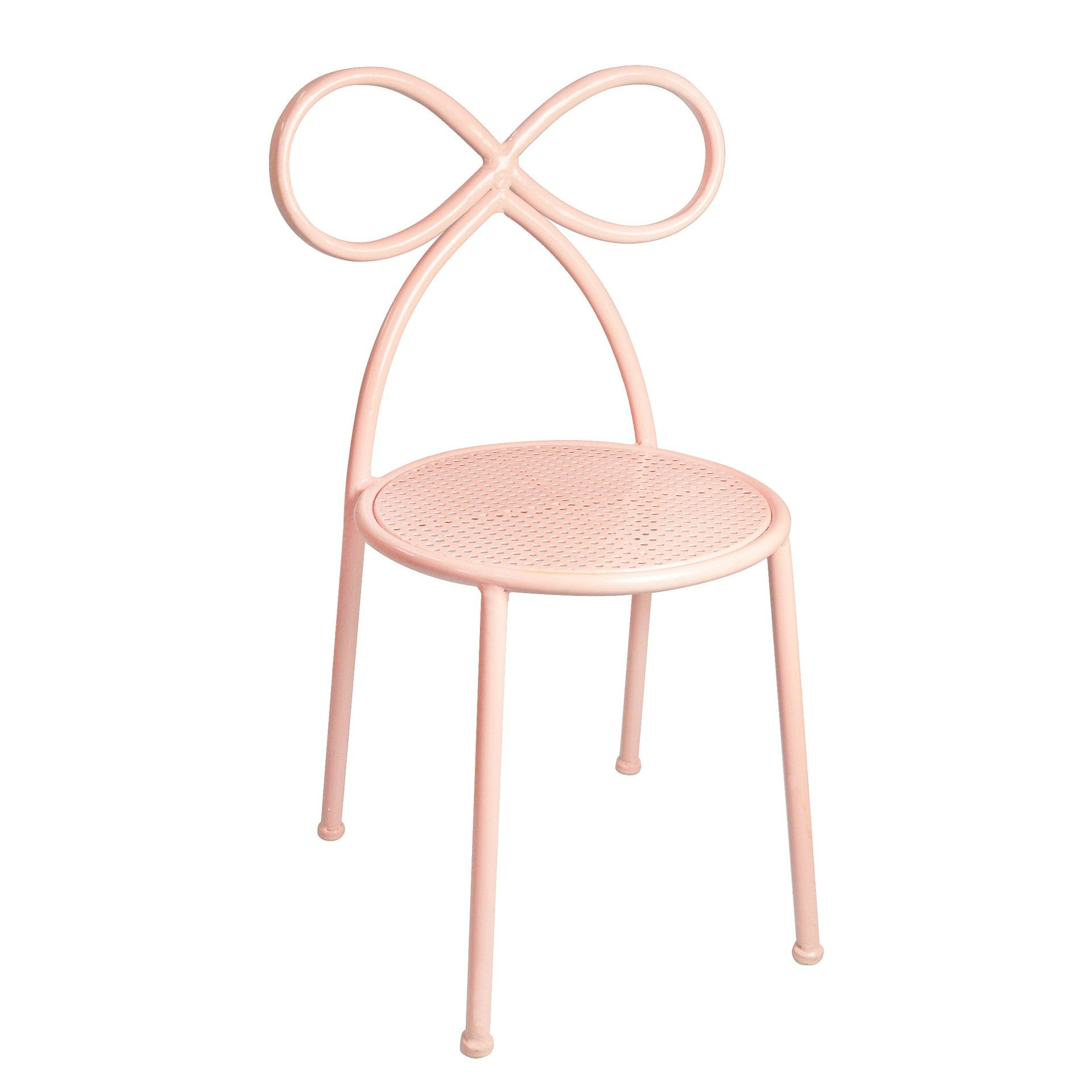Blush Bow Chair | Children's Pink Bow Chair | Pink girl room
