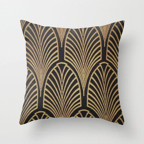 Art Deco Living Room Set: Deco Arches Pillow Cover