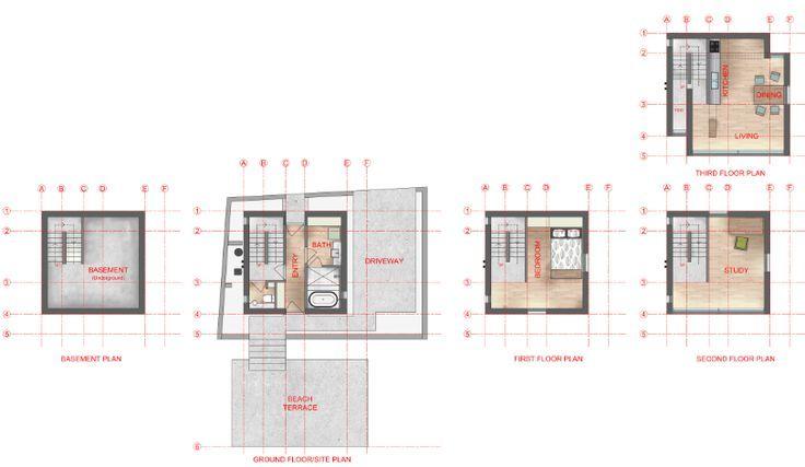 4x4 House Rendered Floor Plan Tadao Ando Floor Plans