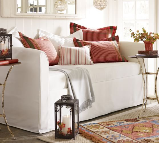Lewis Slipcovered Daybed Daybed Mattress Daybed Bedding