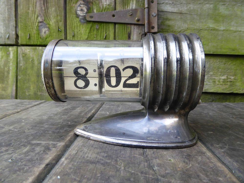 rare antique vintage flip clock deco industrial junghans plato for restoration flip clock. Black Bedroom Furniture Sets. Home Design Ideas