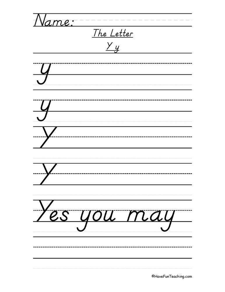 Letter Y D Nealian Style Handwriting Practice Worksheet Handwriting Practice Worksheets Handwriting Practice Cursive Worksheets Free d handwriting worksheet maker