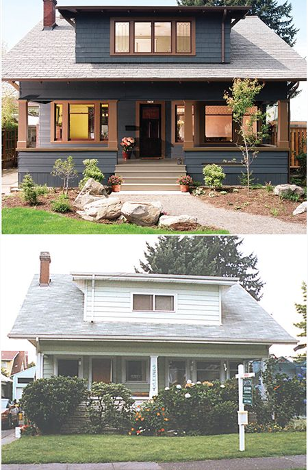 Before and after 1909 craftsman bungalow portland or for Portland craftsman homes