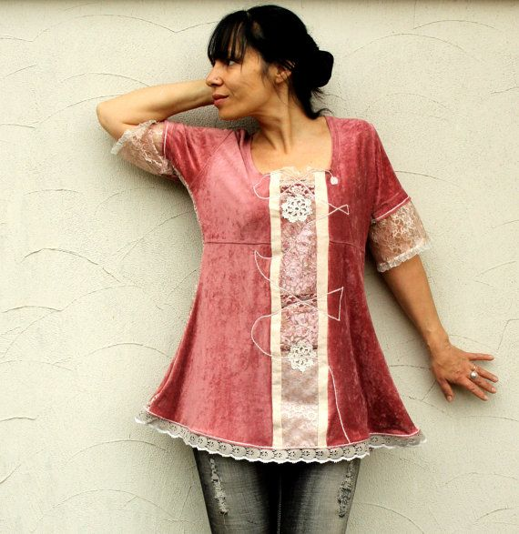 Reserved for Bonnie romantic shabby chic dress tunic by jamfashion, $87.00