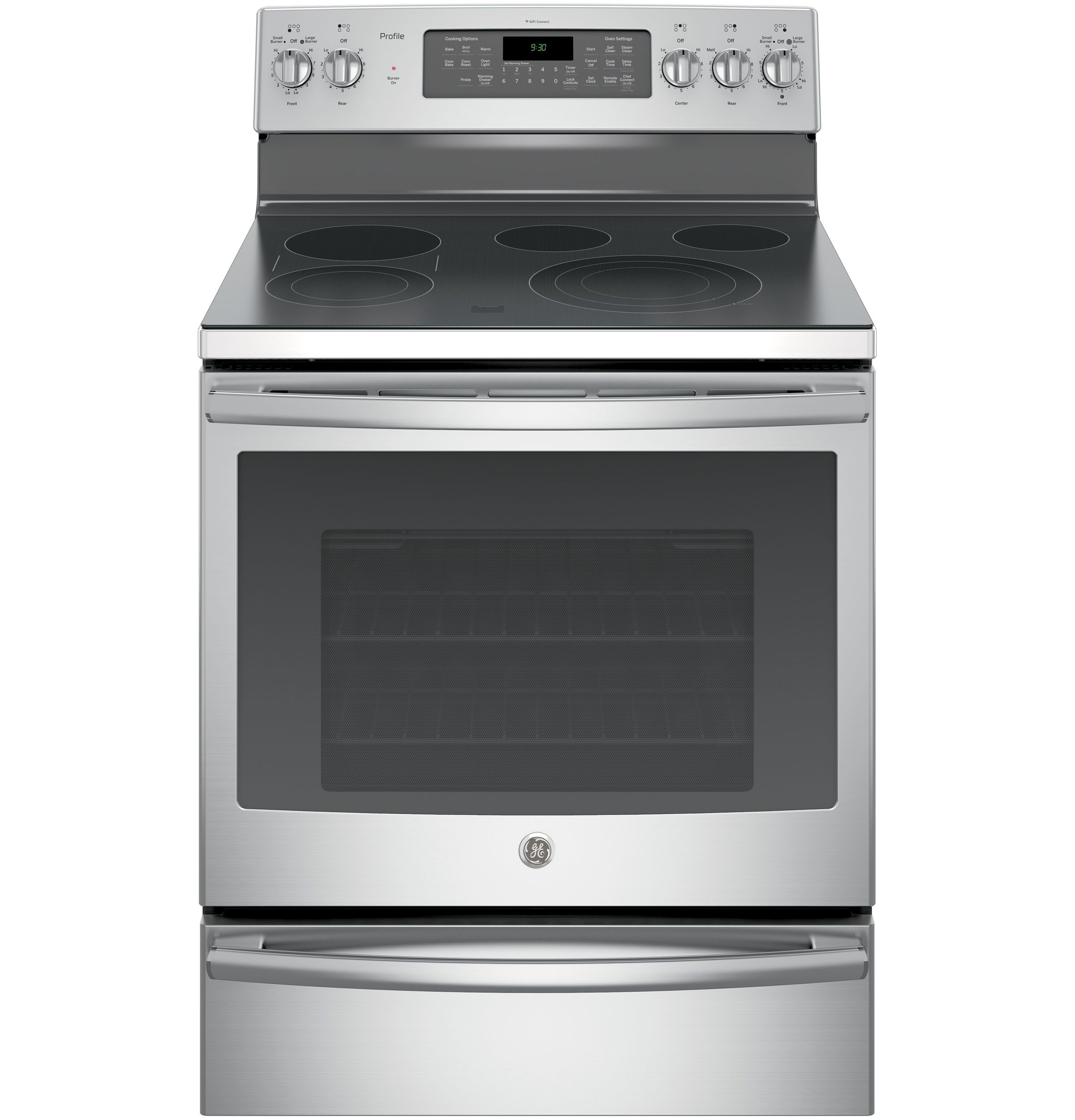 Ge Profile Series 30 Free Standing Electric Convection Range With Warming Drawer Al Induction Range Convection Range Freestanding Electric Ranges