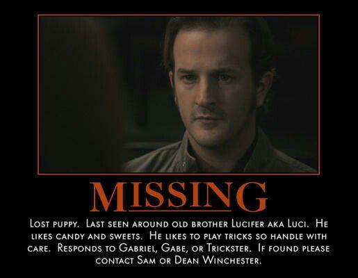 Missing Poster for Gabriel Archangel Gabriel (Supernatural - make a missing poster