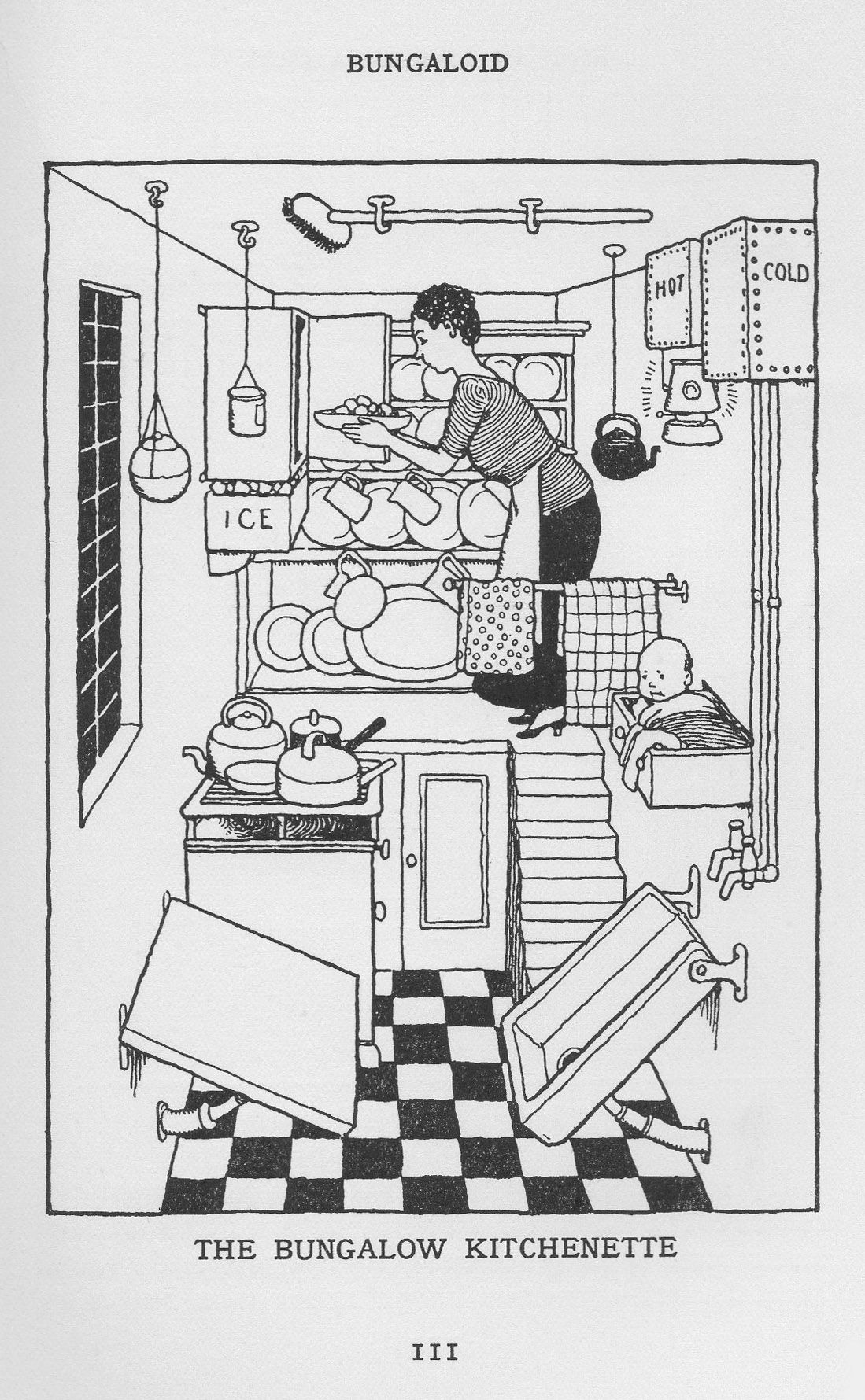 1936 How to Live in a Flat | Heath robinson, Book illustration ...