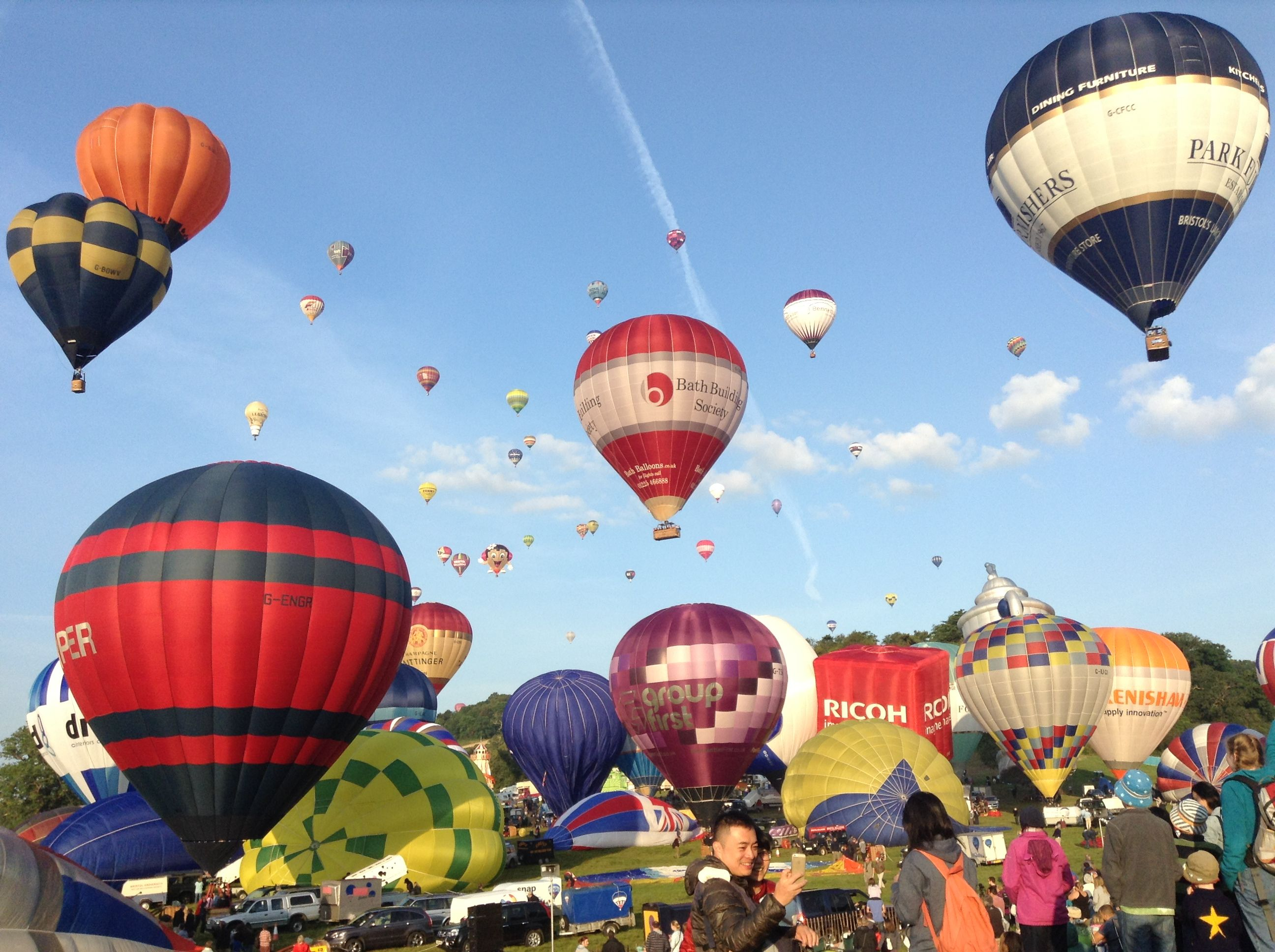 Hot air balloons Bristol balloon festival 2014 (With