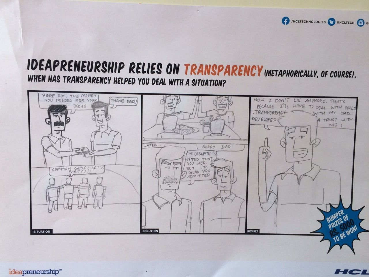 To know more about #ideapreneurship click on the link - www.hcltech.com/ideapreneurship #ComicCon #art #intrapreneurship #employerbranding #B2Bbranding  #IT
