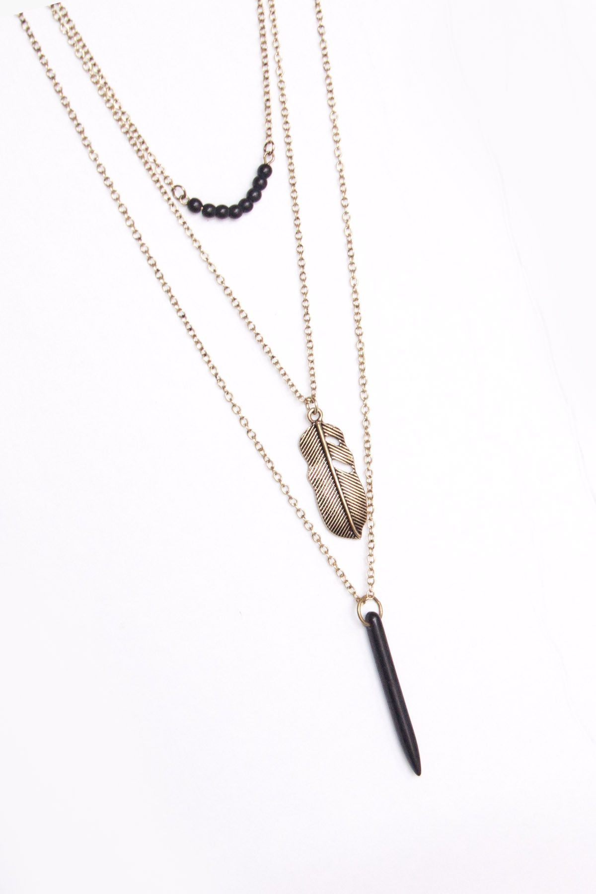Layered Vintage Necklace ~ Black