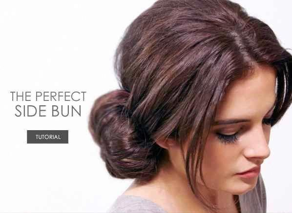The Perfect Side Bun | 31 Gorgeous Wedding Hairstyles You Can Actually Do Yourse... - #bun #Gorgeous #Hairstyles #Perfect #Side #wasserfallfrisur #wedding #Yourse #weddingsidebuns