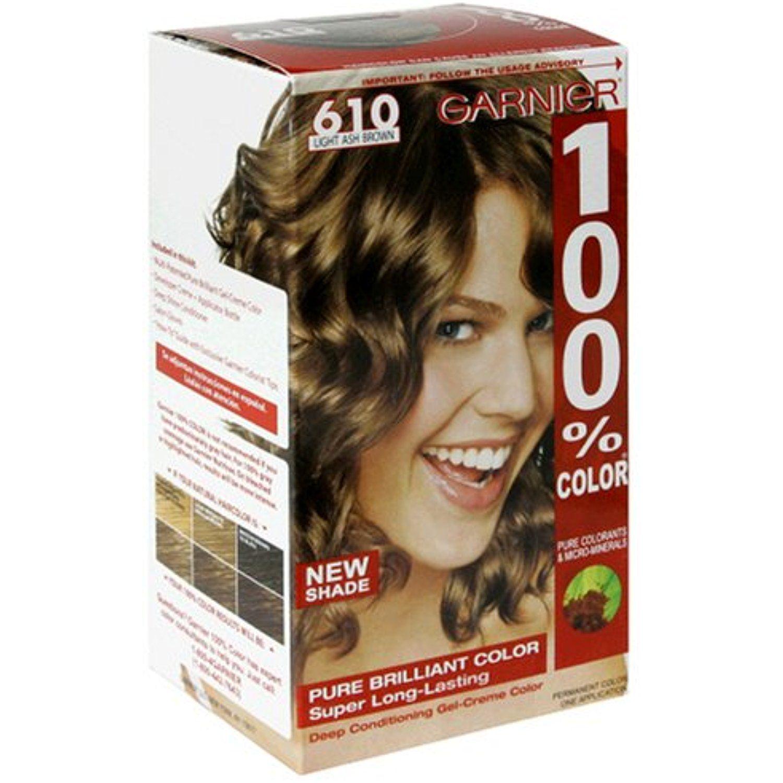 Garnier 100 Color Permanent Color Light Ash Brown 610 Visit The Image Link More Details This Is An Affiliate Link And I Light Ash Brown Ash Brown Color