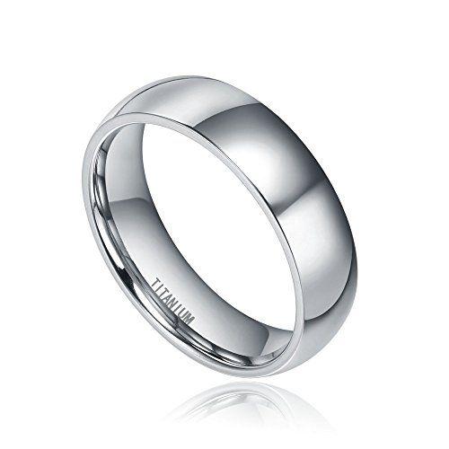 Blue Chip Unlimited Slim 6mm High Polished Titanium Wedding Ring