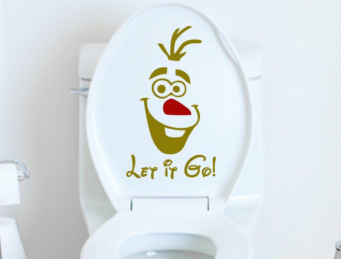 Olaf Frozen Decal Olaf Let It Go Vinyl Decal Sticker Toilet Decal For Bathroom Or Laptop Car Window Wall Decor In Vinyl Decals Popular Decal Bathroom Decals [ 866 x 1141 Pixel ]