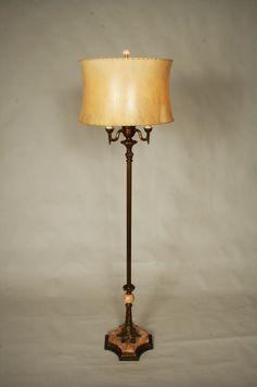 Vintage Floor Lamp W Rose Marble Base C 1940 Vintage Floor Lamp Floor Lamp Lamp