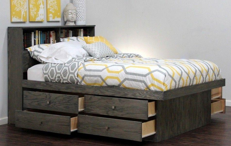 Dark wood bed frame Version 2 | Pinterest | Dark wood bed frame ...