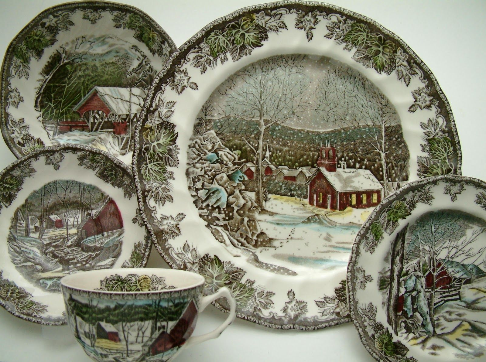 Friendly village dinnerware estelle 39 s johnson brothers - Johnson brothers vajilla ...