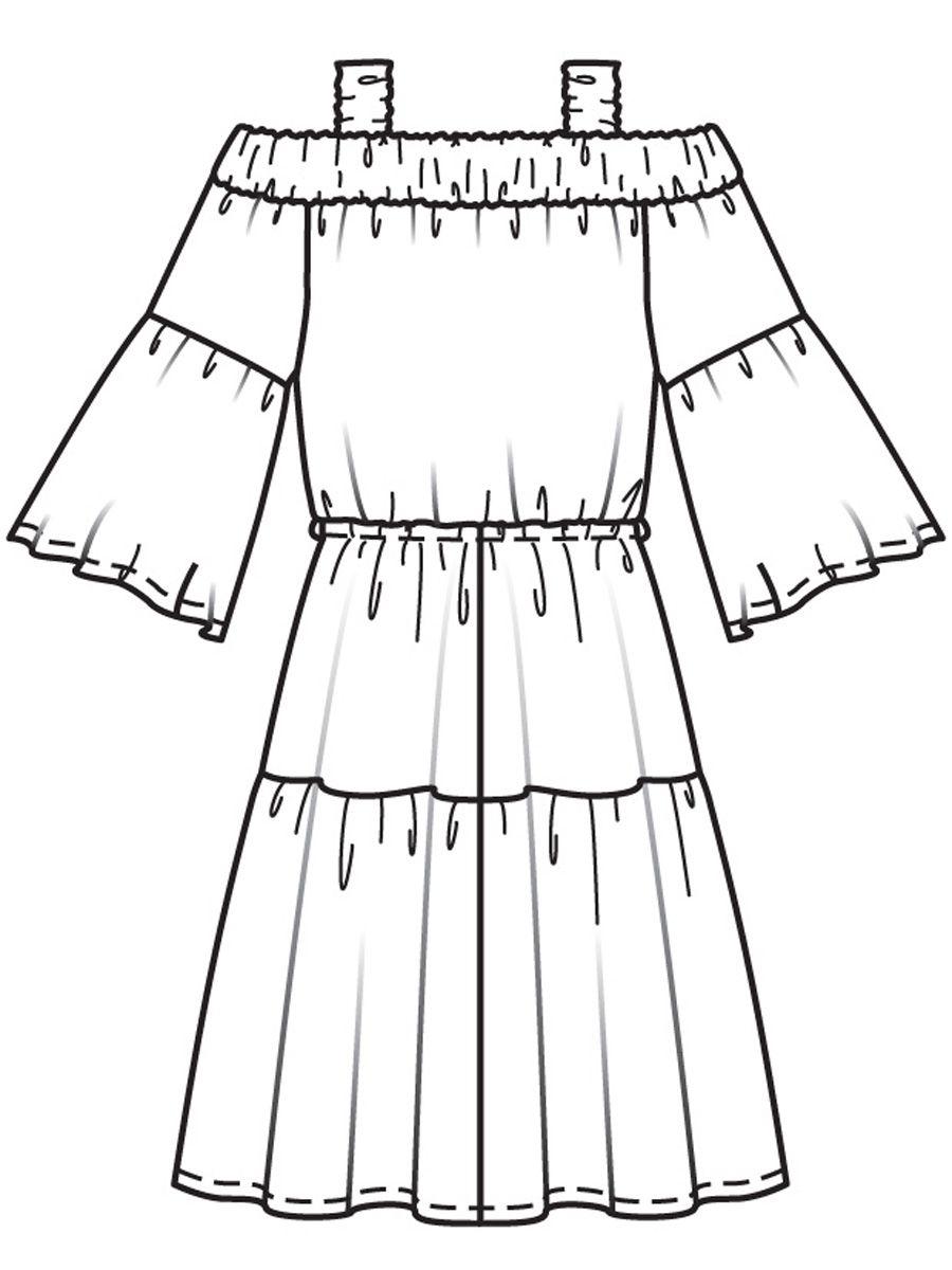 Выкройка платьев в стиле кармен фото 26