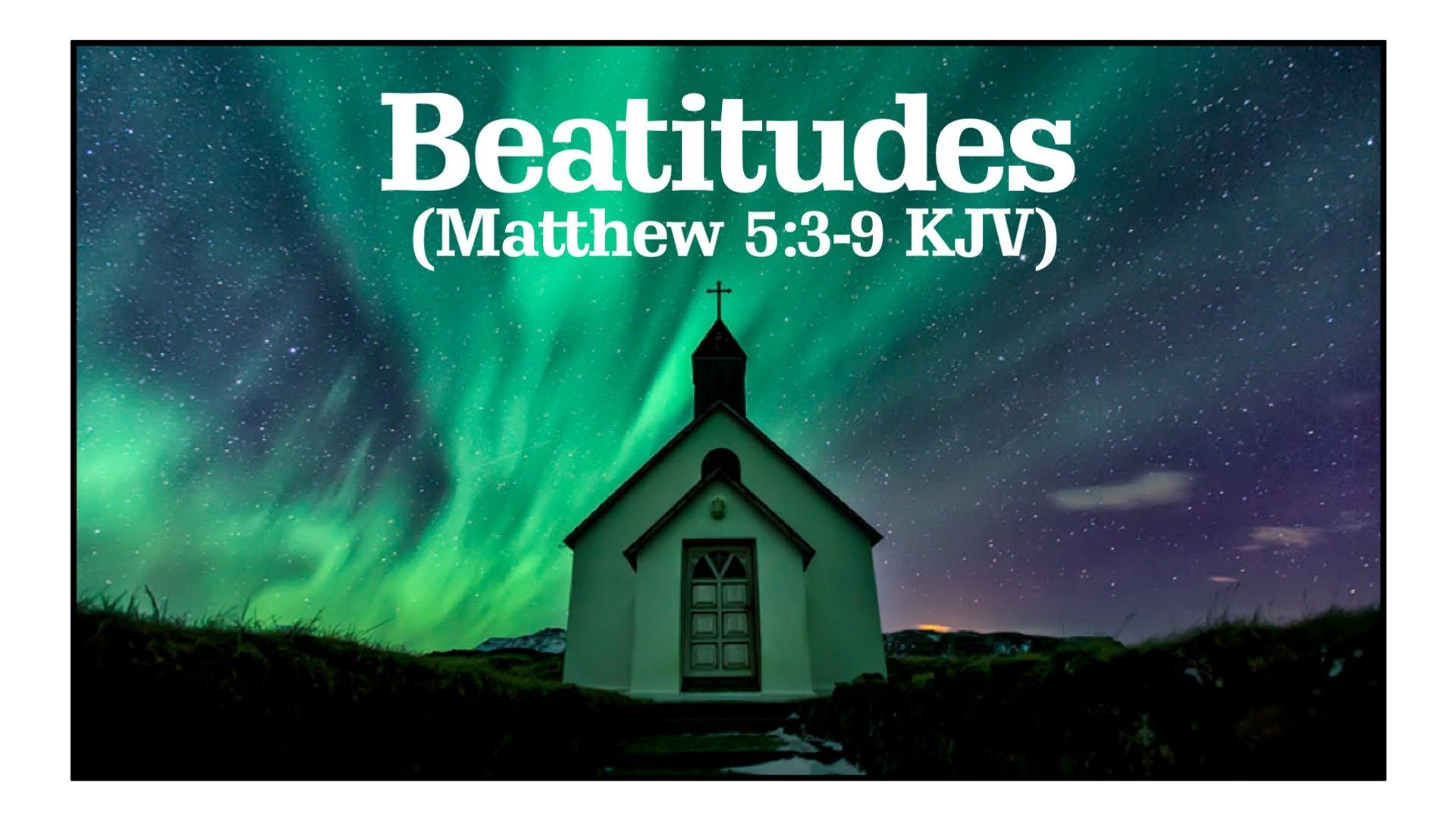 Beatitudes Song With Lyrics Sermon On The Mount Kjv