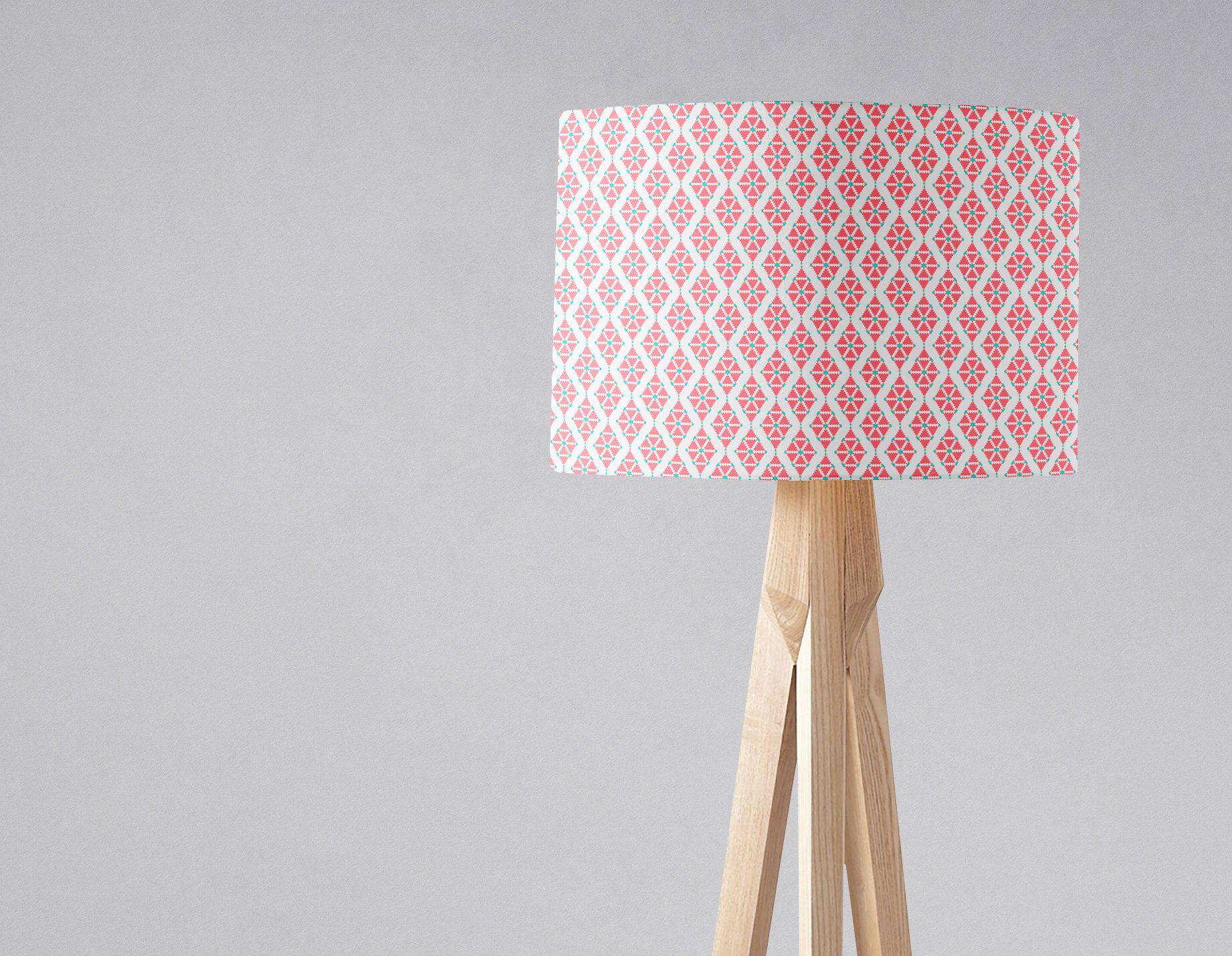 Pink Geometric Lampshade Light Shade Geometric Lampshade Pink