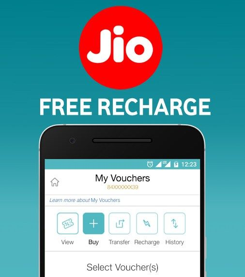 Get Free Jio Recharge for 1 Month 1 month, Free, Phone