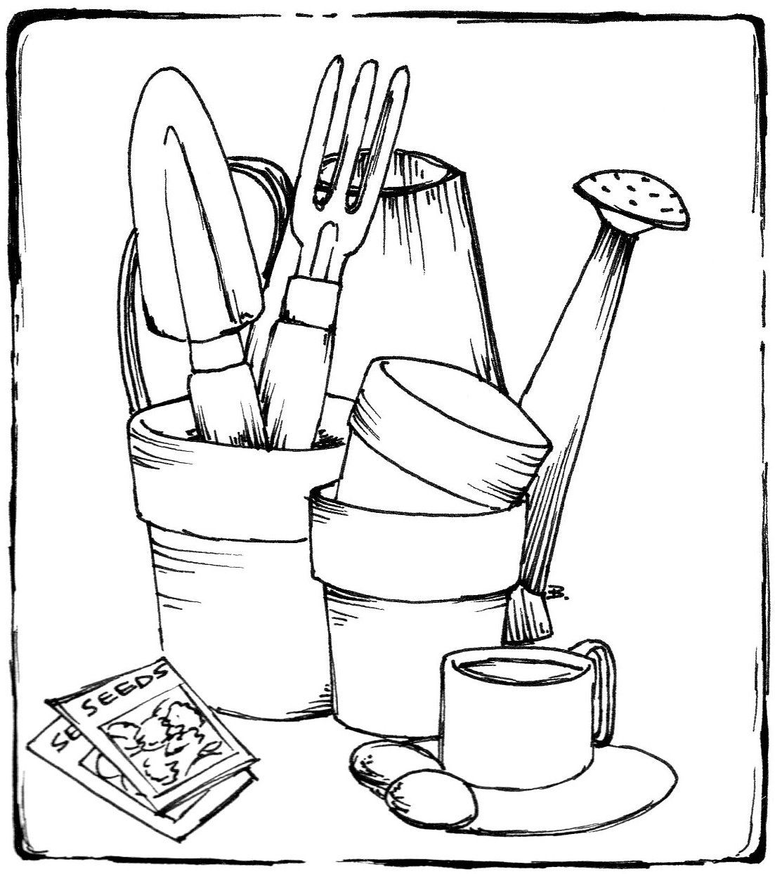 Beccy S Place Gardening Items Garden Coloring Pages Coloring Pages Colouring Pages
