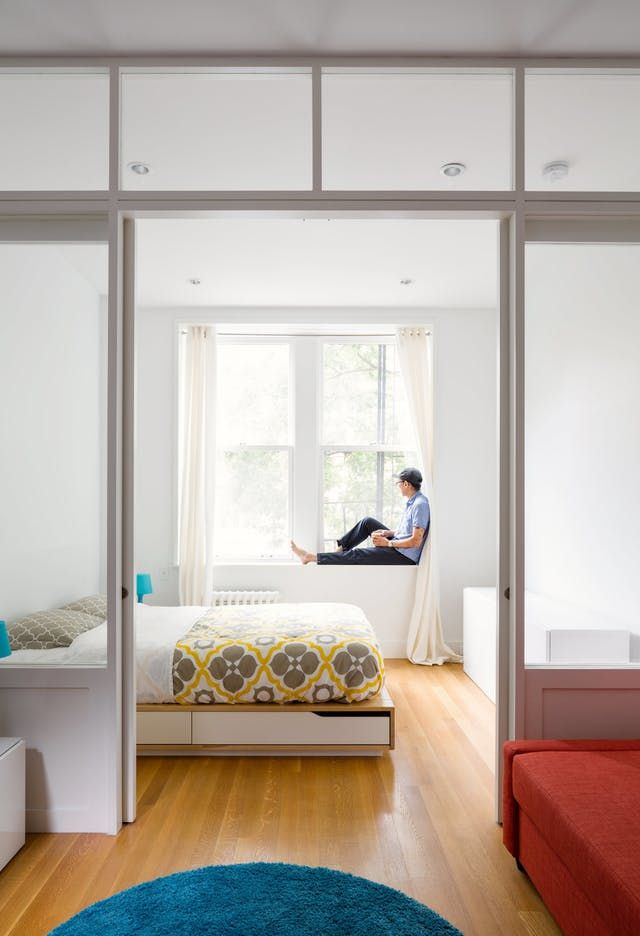 By Replacing A Wall With A Custom Wood And Glass Partition, Architect Matt  Krajewski Transformed A Previously Dark One Bedroom Railroad Apartment In  ...