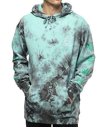 ac0be8df53fd HUF 420 Plantlife Mint Tie Dye Hoodie