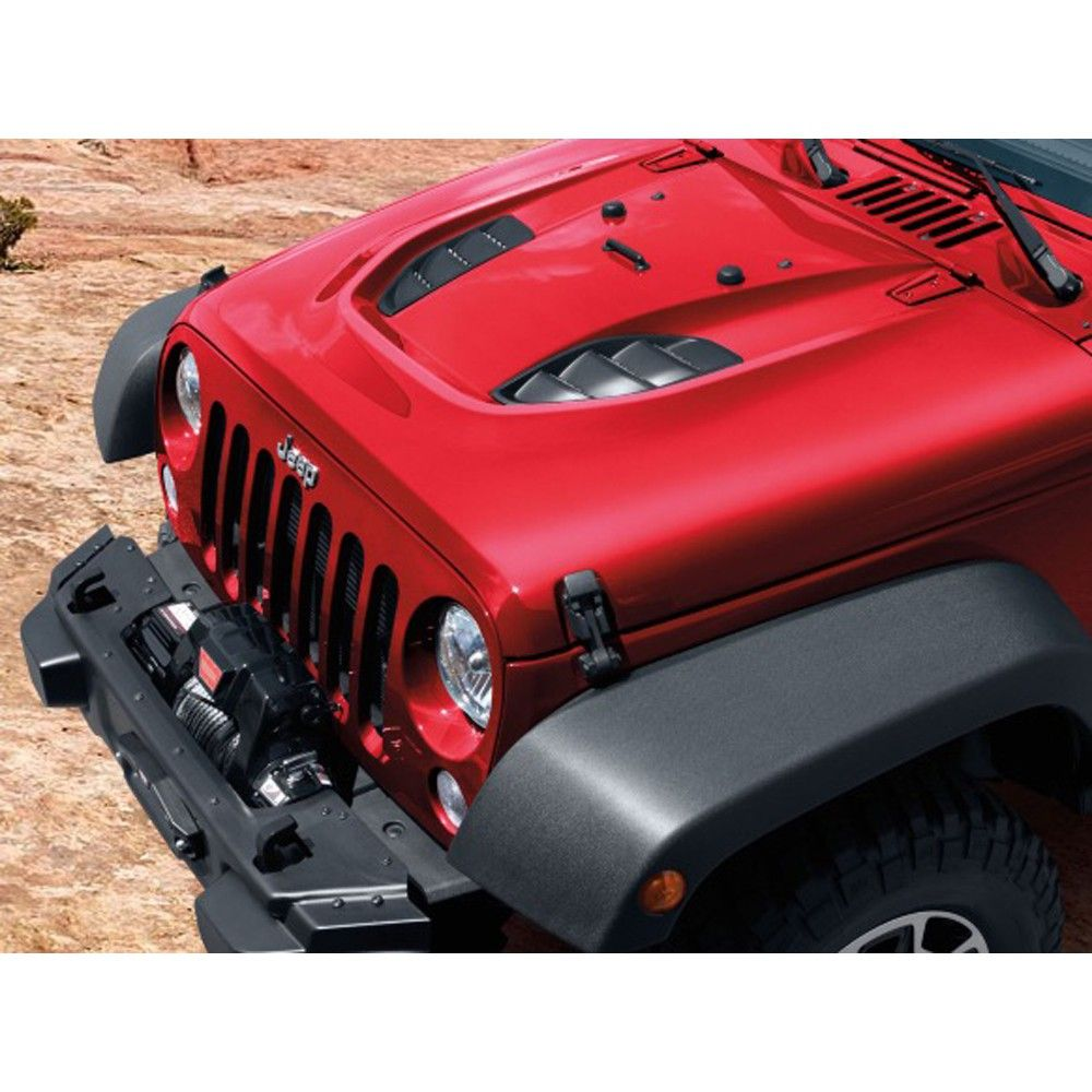 Mopar Hood Rubicon X And 10th Anniversary Edition Style Jeep Wrangler Jk 2007 2018 Mopar Jeep Jeep Wrangler Accessories Jeep Wrangler Rubicon