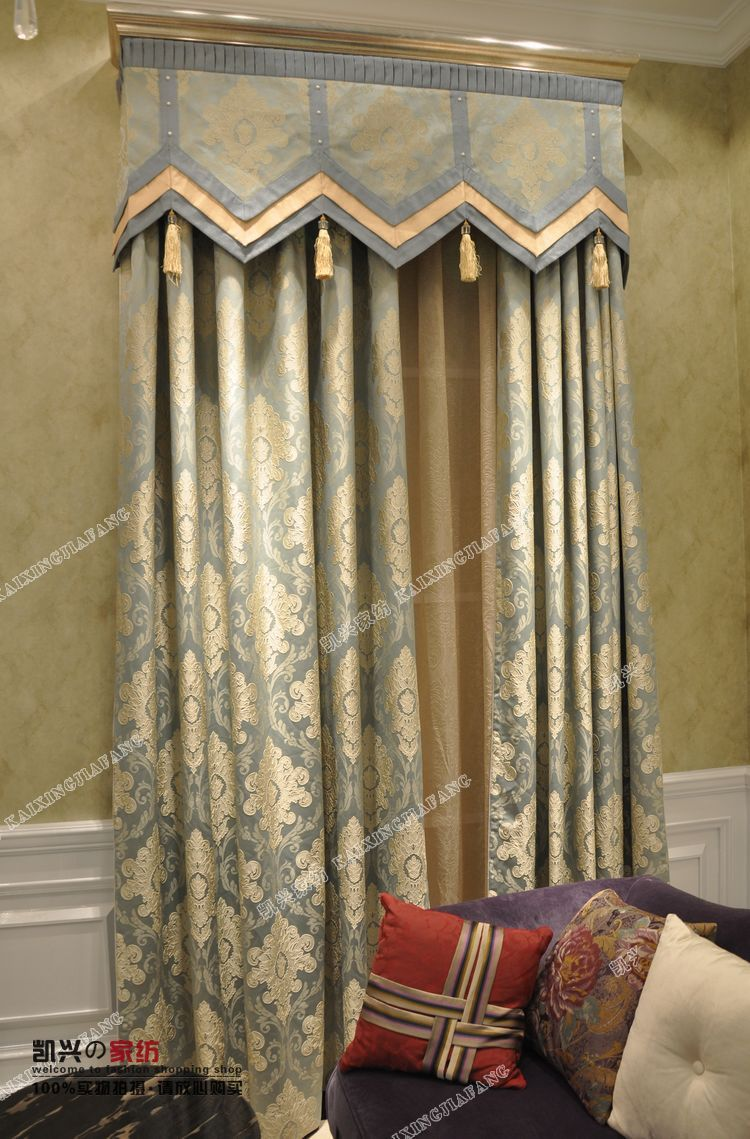 Curtain and valance designs - Valance Curtains For Living Room Sky Designs Blue Curtains In