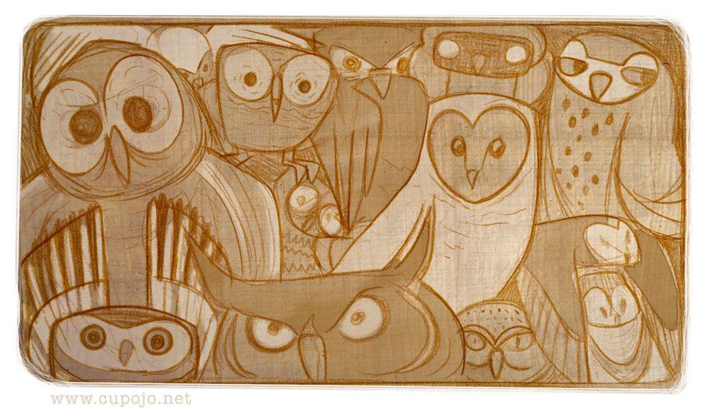 Joanna Davidovich's Art & Animation Blog: Daily Crapbook: Back To Owls