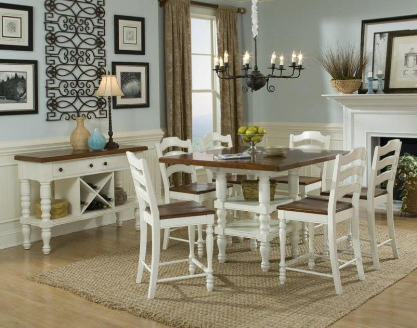 The Regular Table Not Pub TableLegacy Classic Furniture Concord Drop Leaf In Distressed Burnished White And Cherry