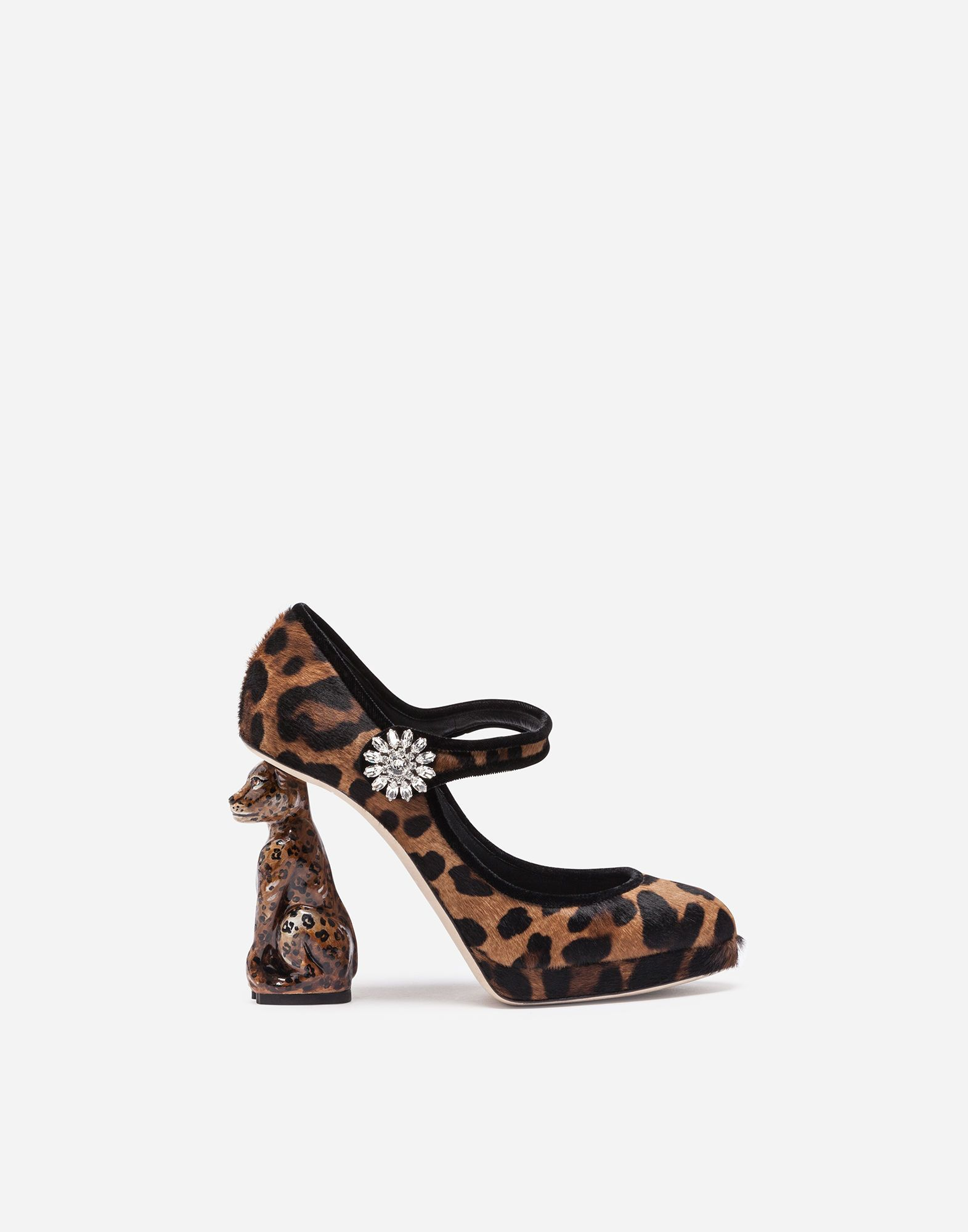c84b32287d1e9 DOLCE & GABBANA PONY HAIR MARY JANES WITH SCULPTURAL HEEL ...