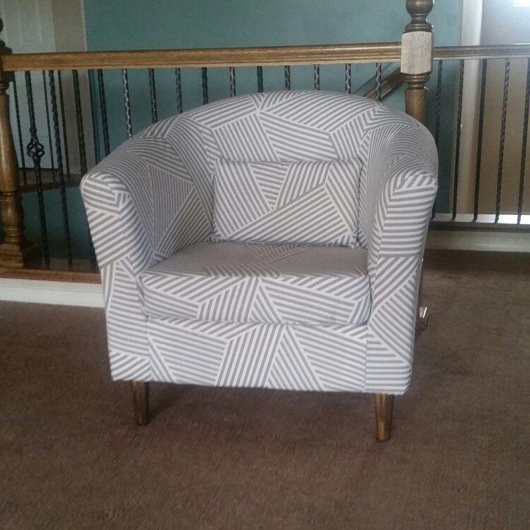 My first upholstery project! Ikea Tullsta chair handmade