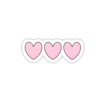 Pink Heart Sticker Sticker By Amandabrynn Heart Stickers Tumblr Stickers Hydroflask Stickers