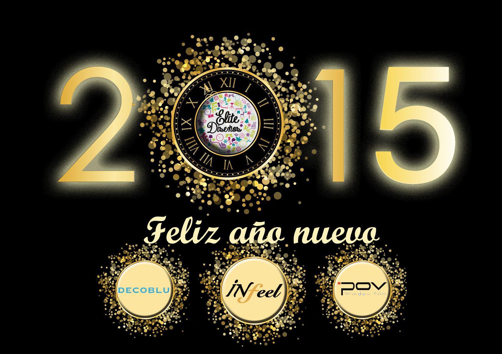¡¡Desde @EliteDisenos os deseamos un Feliz 2015!! #FelizAno2015!!