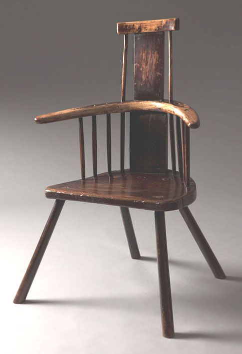 Welsh comb back stick chair  Cadair cefn ffyn - With an ...