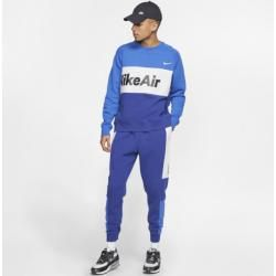 Nike Air Fleece-Rundhalsshirt für Herren - Blau Nike