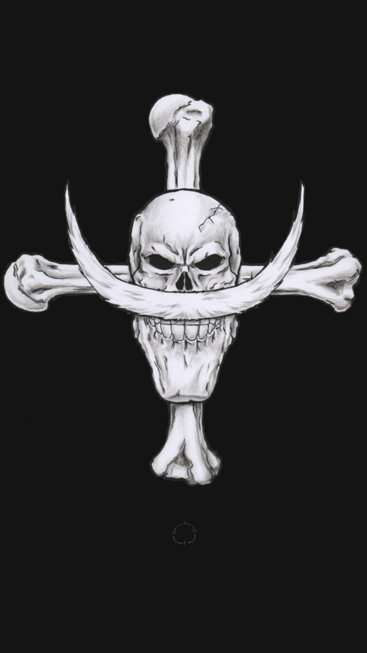 I drew some Jolly Rogers from One Piece!