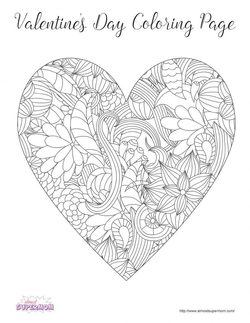 Valentines Day Coloring Page Inspirational Coloring Grown Up Coloring Pages Valentine Coloring Valentines Day Coloring Page Printable Valentines Coloring Pages