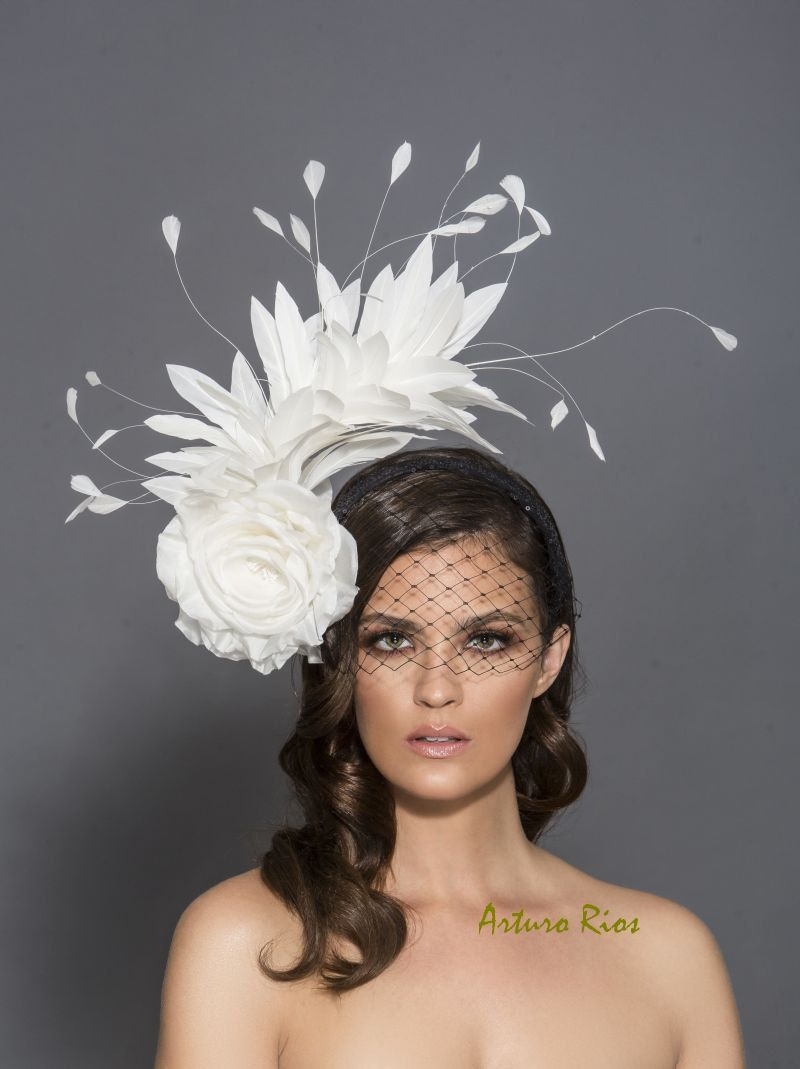 Black and white Kentucky Derby Fascinator, Black and white fascinator, headband, Melbourne cup hats, Preakness hat