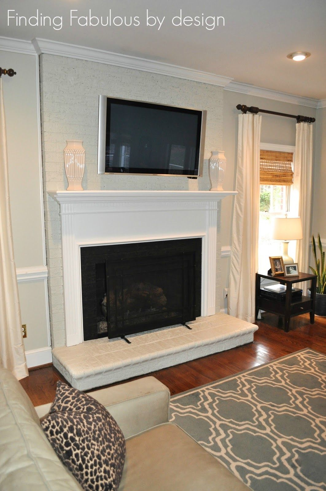 Painted Brick Fireplace Amp Family Room Makeover And Great