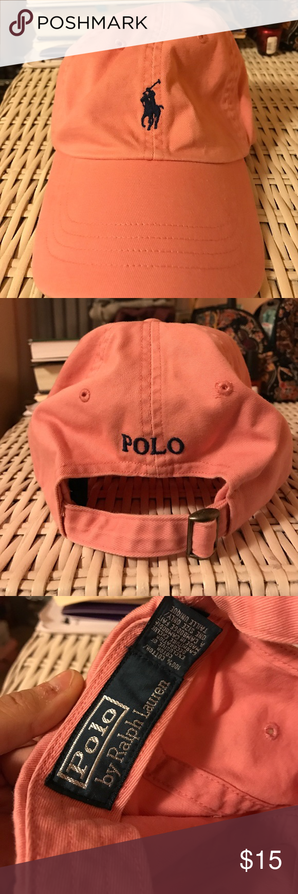 Pink Polo Hat Pink Ralph Lauren Polo hat. Never worn! Brand new condition. No stains or fading. Polo by Ralph Lauren Accessories Hats