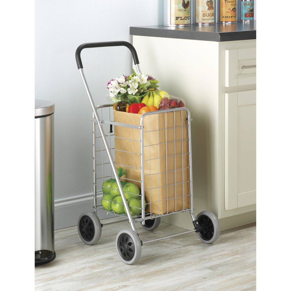 Funky Shopping Trolley Small Foldable Easy Storage Rolling