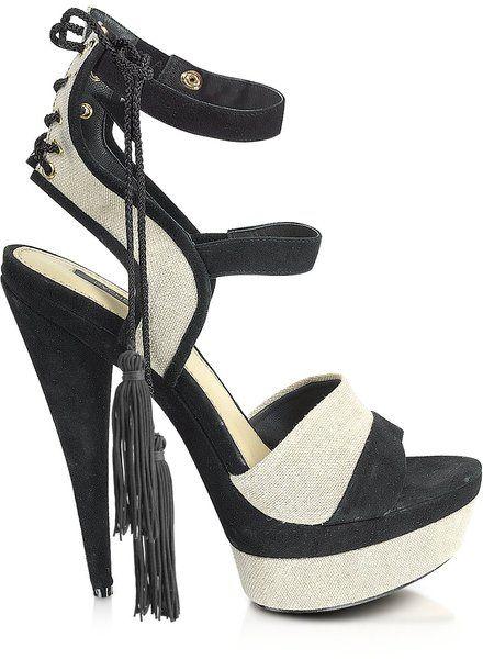 ae64a7ef5139 Women s Black Blake - Linen and Suede Platform Sandal