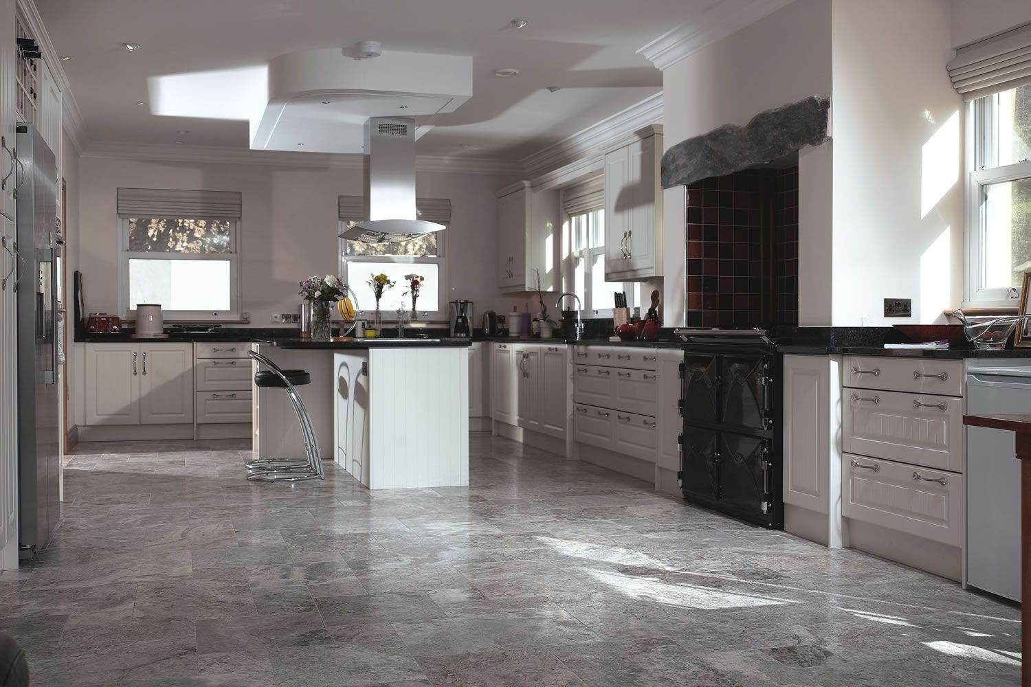 Travertine Flooring In Kitchen Grange Silver Grey Travertine Kitchen Ideas Pinterest Grey