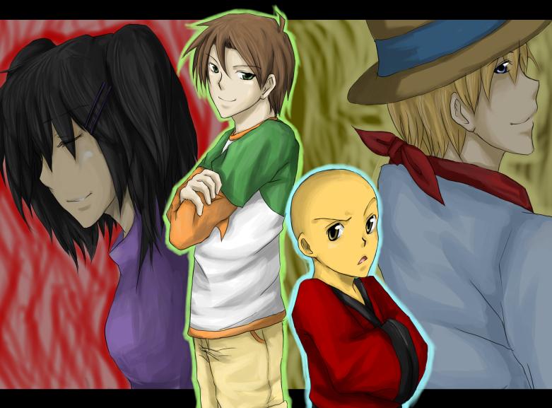 Kimiko, Raimundo, Omi, Clay