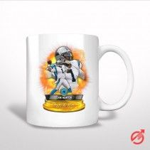 Cam Newton Carolina Panther Trophy White Mug