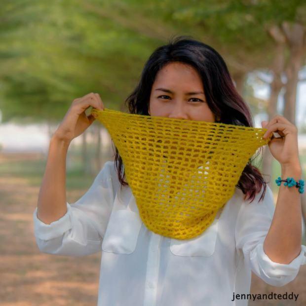 Mesh Cowl Free Crochet Pattern Summer Haken Gratis Patroon