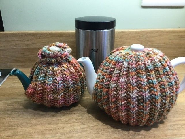 Knitting Pattern Tea Cosy 2 Sizes Included Pdf File Tea Cosy